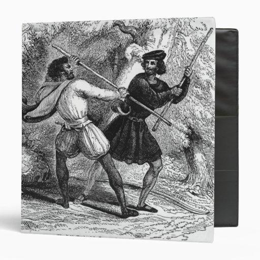 """Robin Hood y el Tanner con las barras de hierro Carpeta 1 1/2"""""""