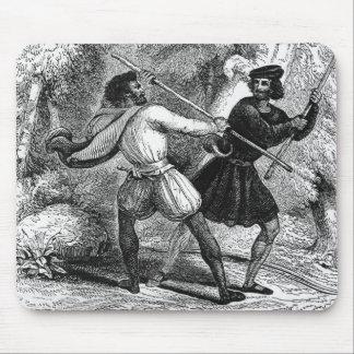 Robin Hood y el Tanner con las barras de hierro Tapete De Raton