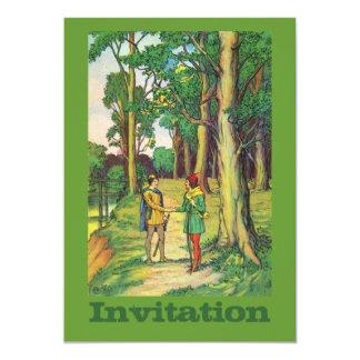 """Robin Hood y pequeño Juan Invitación 5"""" X 7"""""""