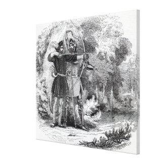 Robin Hood y pequeño Juan Lona Envuelta Para Galerias