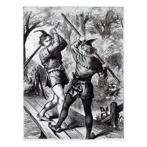 Robin Hood y pequeño Juan Postal