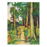 Robin Hood y pequeño Juan Postales