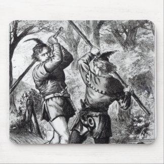 Robin Hood y pequeño Juan Alfombrilla De Ratón