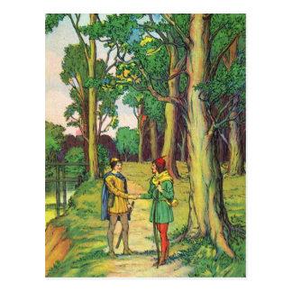 Robin Hood y pequeño Juan Tarjeta Postal