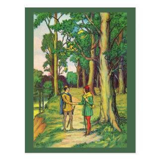 Robin Hood y pequeño Juan Tarjetas Postales