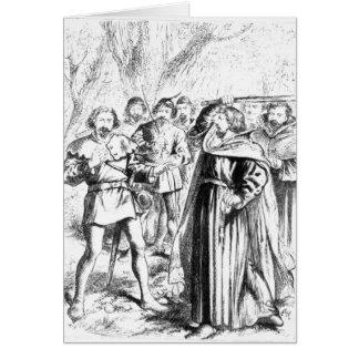 Robin Hood y rey Richard I Tarjeta