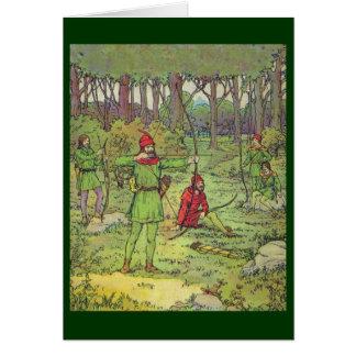 Robin Hood y sus felices hombres Tarjeton