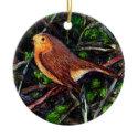 Robin in a hedge ornament