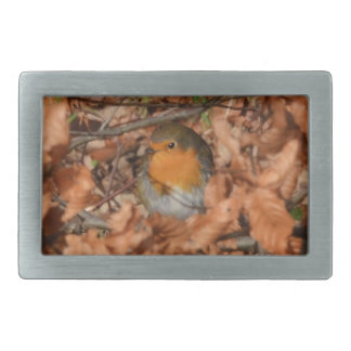Robin In The Forest Rectangular Belt Buckles