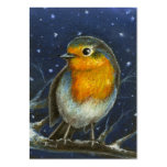 Robin in the snow aceo print business card templates