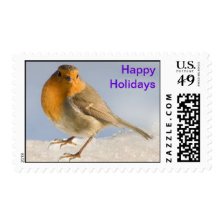 Robin in the snow II Postage