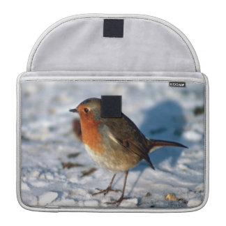 Robin In The Snow Sleeves For MacBooks