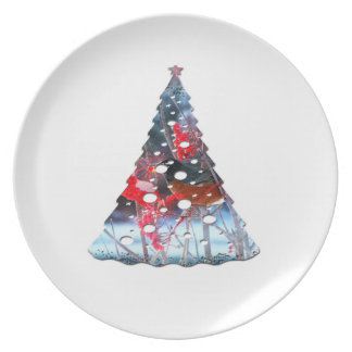 Robin in the Tree; Merry Christmas Dinner Plate