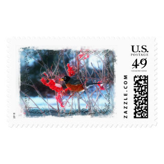 Robin in the Tree Stamp