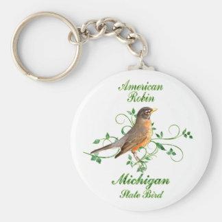 Robin Michigan State Bird Keychain
