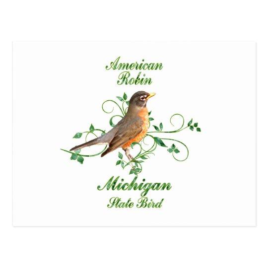 Robin Michigan State Bird Postcard