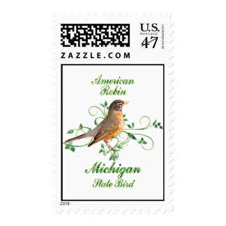 Robin Michigan State Bird Stamp