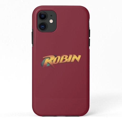 Robin Name Logo iPhone 11 Case