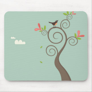 Robin on a Tree Mouse Pad