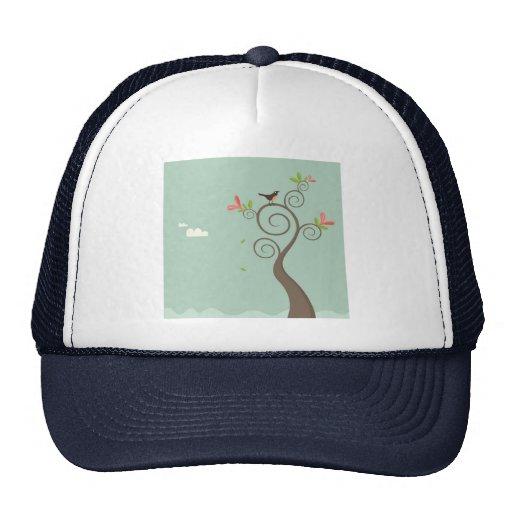 Robin on a Tree Trucker Hat