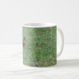 Robin on Lawn Coffee Mug