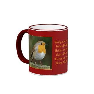 Robin on Post Mug mug