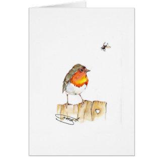 Robin Original Watercolor Design Greeting Card