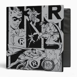 Robin - Picto Grey 3 Ring Binder