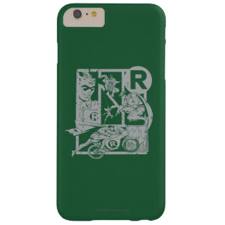 Robin - Picto Grey Barely There iPhone 6 Plus Case