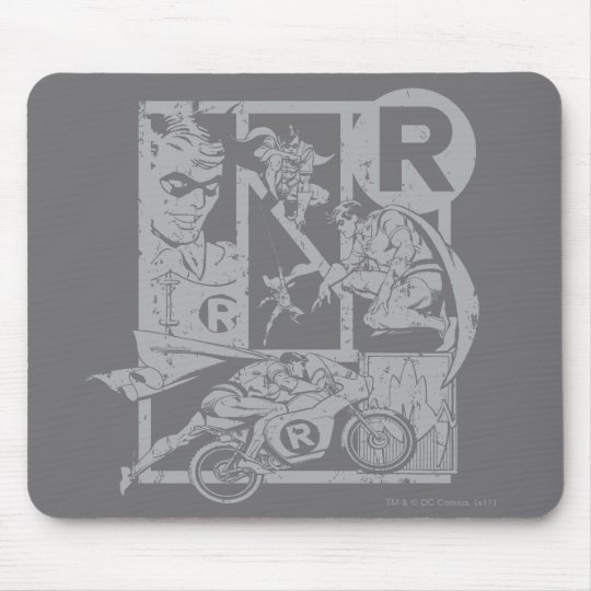 Robin - Picto Grey Mouse Pad