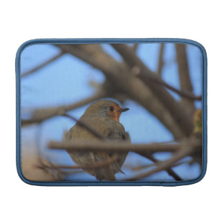 robin portrait MacBook sleeve
