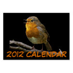 Robin Purse Calendar Card Large Business Cards (Pack Of 100)