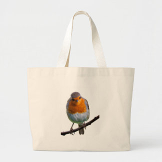 Robin Red Breast Canvas Bags