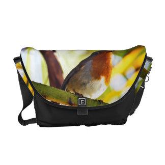 Robin red breast bird messenger bag