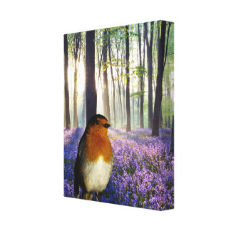 Robin red-breast image for wrapped canvas