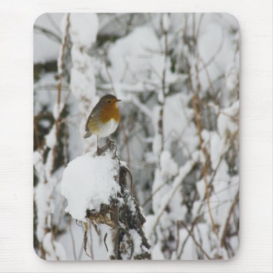 Robin Red Breast Mouse Pad