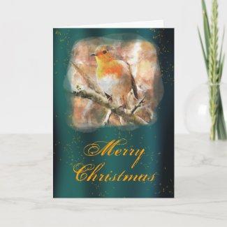 Robin Redbreast Christmas Card card