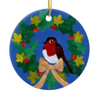 Robin Redbreast Christmas Ornament ornament