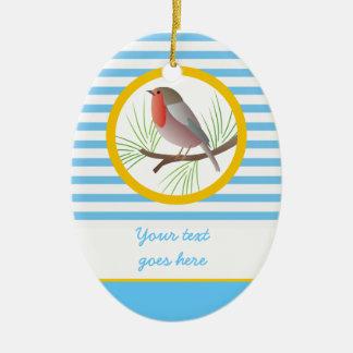 Robin Redbreast custom ornaments