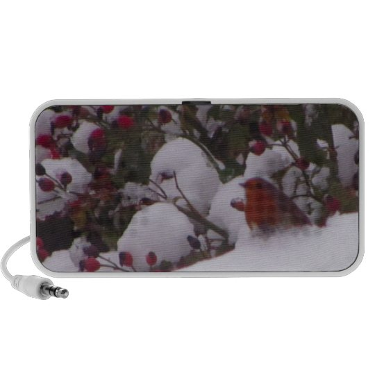 Robin Redbreast in the Snow Mini Speaker
