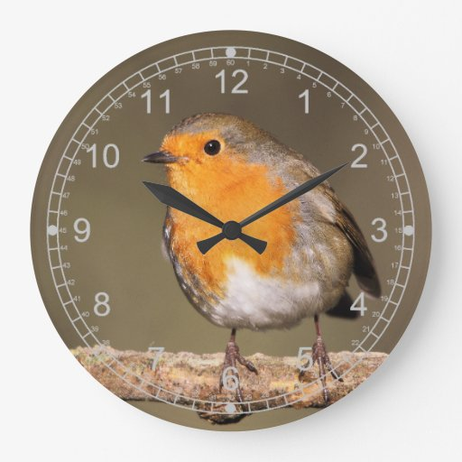 Robin Redbreast Large Clock