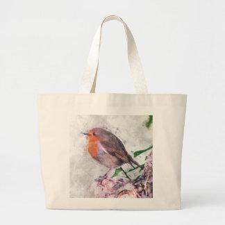 Robin Redbreast Large Tote Bag