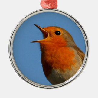 Robin Redbreast Metal Ornament