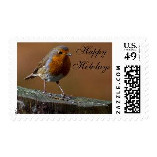 Robin Redbreast Postage Stamp