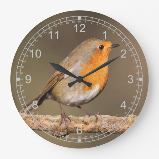 Robin Redbreast Round Wallclock