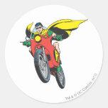 Robin Rides 2 Classic Round Sticker