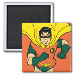 Robin Running 2 Inch Square Magnet