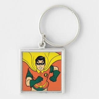 Robin Running Keychain