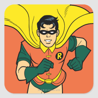 Robin Running Square Sticker