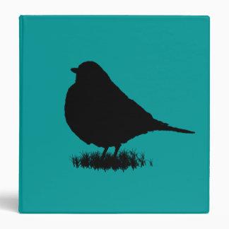 Robin Silhouette Love Bird Watching Binder